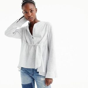 J.Crew Gathered Front Popover Grey